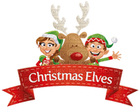 christmas elves deco border