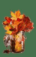 verre deco automne feuilles  glass leaves autumn
