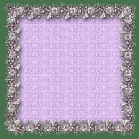 cadre, fleurs, lavande, perles,silver,Orabel