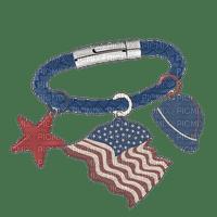 Kathleen Reynolds 4th July American USA Bracelet