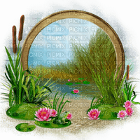 spring circle frame nature printemps cercle