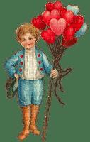 Valentine boy with hearts Vintage, Joyful226