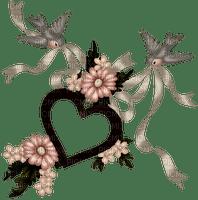 Jolies hirondelles avec coeur