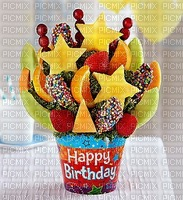 image encre happy birthday fruit edited by me