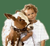 child cow 👦🐮  enfant la vache