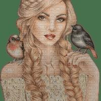 kikkapink woman fantasy birds bird