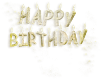 happy birthday deco text