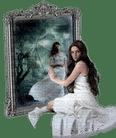 femme gothique miroir  woman  mirror goth