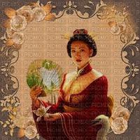 image encre couleur texture effet femme geisha edited by me