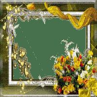 cadre jaune deco fleurs yellow flower frame