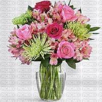 multicolore image encre bon anniversaire fleurs bouquet vert rose  edited by me