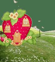 charlotte aux fraise strawberry house fraise maison paysage