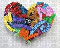 Coeur stylisé multicolor