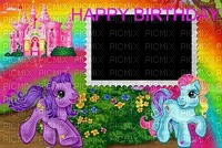 image ink happy birthday pony castle neon landscape edited by me