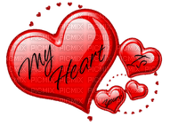 Kaz_Creations Deco Heart Love Hearts Text My Heart Is Yours