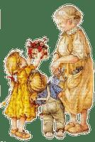 Großmutter, Oma, Kinder, Blumen