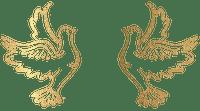 Kaz_Creations Deco Gold Doves