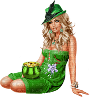 St. Patrick's Day woman femme frau tube green human beauty fetes holiday feast feiertag