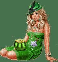 St. Patrick's Day woman femme frau tube green human beauty fetes holiday feast feiertag