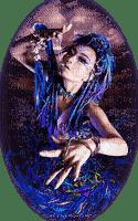 femme fantaisie bleu  woman fantasy
