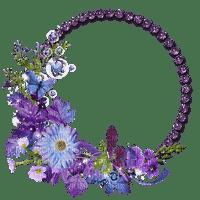 purple flower frame circle cercle violet cadre fleur
