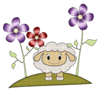 Kaz_Creations Flowers Spring Sheep