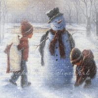 WINTER CHILDS IN SNOW
