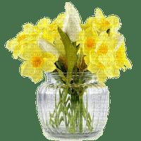 Pâques.Easter.Pascua.Vase.Fleurs.Flowers.yellow.jaune.bouquet.Deco.Victoriabea