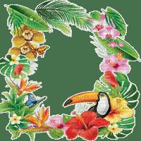 tropical flower frame cadre fleur 🌺🦜