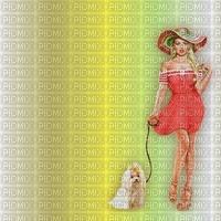 image encre couleur texture femme chapeau chien edited by me