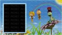 image encre couleur anniversaire fleurs abeille Maya edited by me