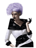 Woman Lilac Black White  - Bogusia