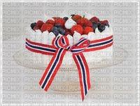 17. May cake. Norway coller in ribbon. Leila