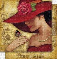 image encre femme fashion chapeau edited by me