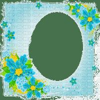 turquoise frame flowers  cadre fleur