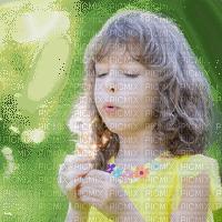 child girl dandelion enfant pissenlit