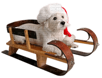Noël chien décoration traîneau Christmas dog decoration sleigh tube