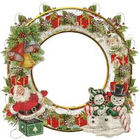 christmas frame circle cadre noel cercle