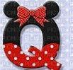 image encre lettre Q Minnie Disney edited by me