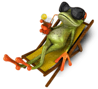 Kaz_Creations Holidaymakers Beach Holiday  Seaside Frog Chair