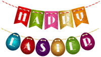 happy easter text deco border