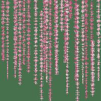 Perle en rideau rose