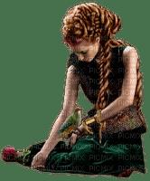 soave woman fantasy vintage dream bird green