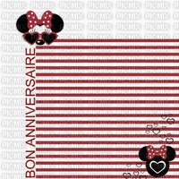 image encre couleur anniversaire Minnie Disney rayures lunettes soleil edited by me