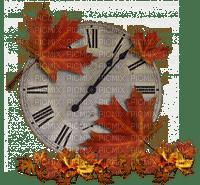 automne feuilles horloge deco autumn leaves clock