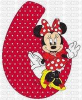 image encre bon anniversaire Minnie Disney  numéro 6 edited by me