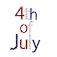 Kathleen Reynolds 4th July American USA Text Logo