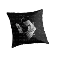 The Addams Family - Morticia Addams - Gomez Addams - pillow - coussin