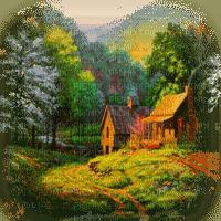 summer house forest paysage maison foret êtê