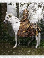 image encre femme cheval paysage robe edited by me